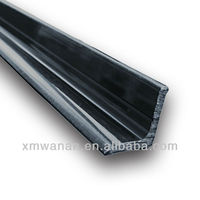 Black L shape sliding door channel edge plastic trim profile