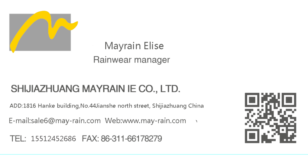 nice style outdoor pvc rainsuits