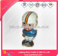 World cup toys OEM 3D pvc mini football player figure