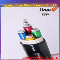 JYXL2015YJLV04 0.6/1Kv Aluminum Conductor 4 Cores Silane XLPE Insulated PVC Sheathed Power Cable