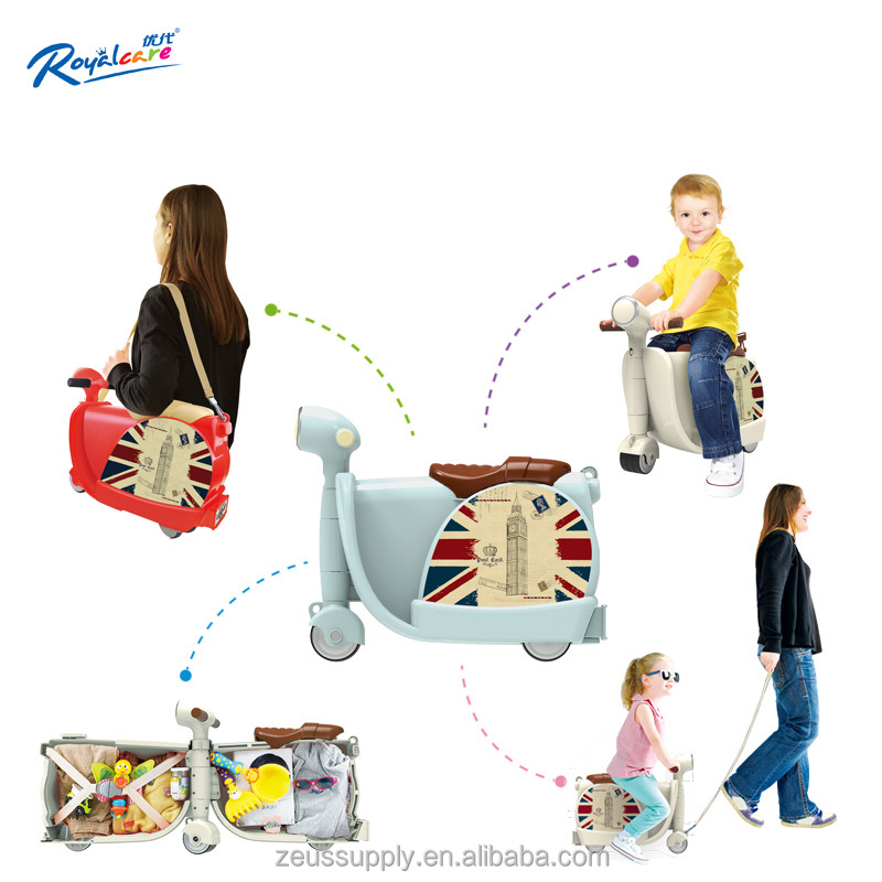 2017 new hard abs trolley case travel trolley luggage bag kids ride luggage 822-217