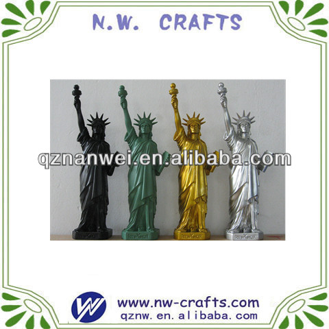 Colorful resin New York souvenir Statue of liberty