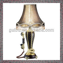 luxury wood crystal pool table lamps with telephone