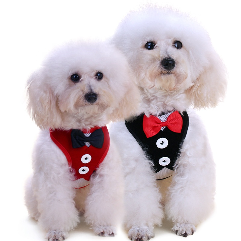 Meetee Hot Products Pet Popular Training Collar T-shirt Evening Wear Suit Jackets Dog Harness with Tie