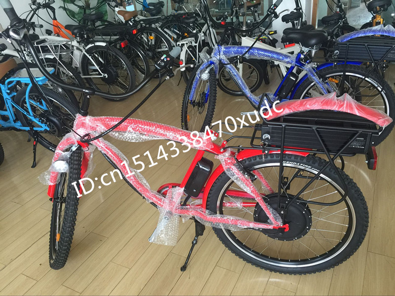 48V 1000W brushless hub motor folding electric bike CE Approved (Red Color )