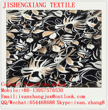 Jishengxiang Cheap Price Printed Polyester Knitting Double Sided Bubble Rice Jacquard Dot Fabric