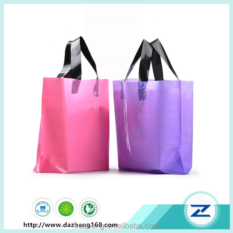 Square Bottom Plastic Gift Bags Retail Clothing Grocery Shopping Bags