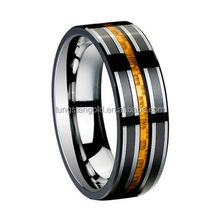 carbon fiber inlay mens celtic finger rings ip black plated tungsten carbide ring