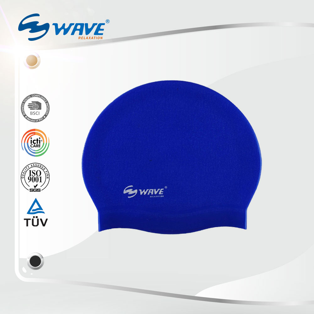 Adults Professional Silicone Caps Silkscreen Printing Swim Caps