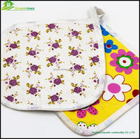Best-Selling decorative printed potholders Custom Logo Kitchen Cotton Promotional Potholder silicone pot holder GVJMX17