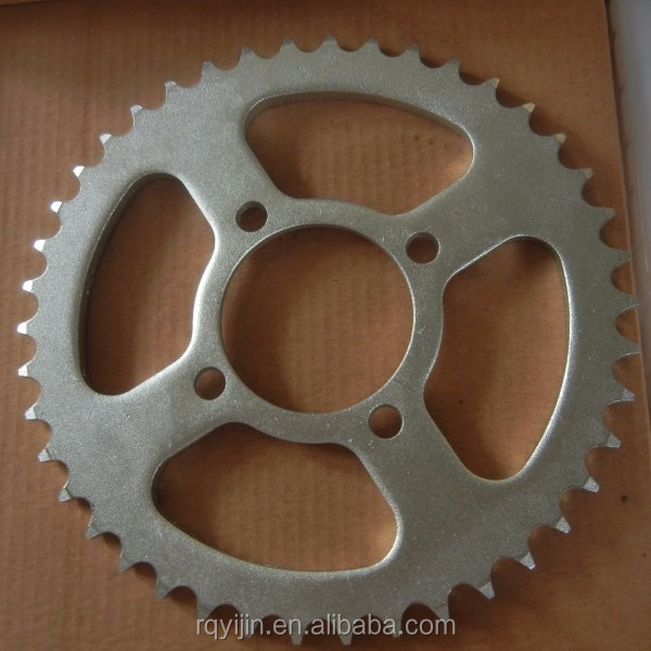 China supplier motorcycle spare parts 45# steel sprocket type for ECO100