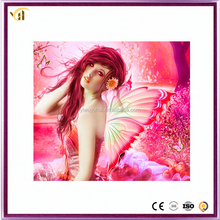 Beautiful Girl with Butterfly Canvas Diamond Paintings