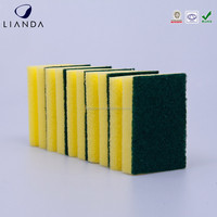 Porcelain Dish Washing Sponge, Non-abrasive Dish Cleaner and Sponge Scrubber Pads