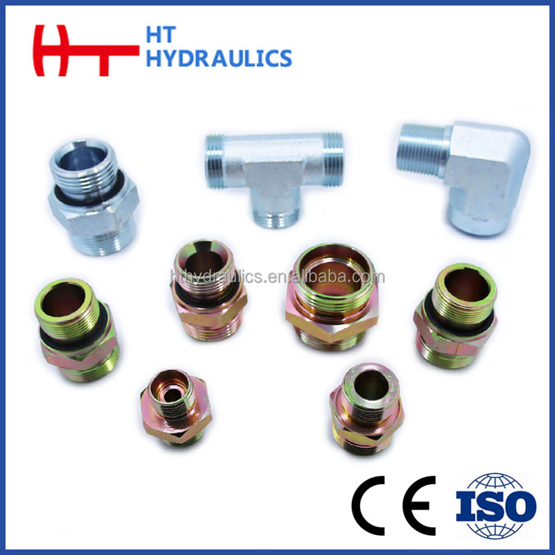Swaged rubber hose hydraulic adapter with high pressure