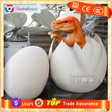 Sanhe Robot life size Display attractive hatching dinosaur egg