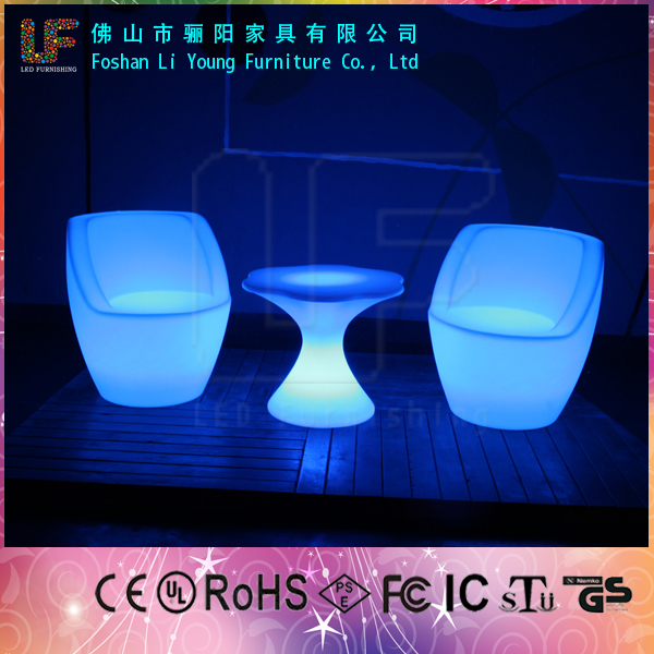 Glowing waterproof IP54 Banquet party garden used flash color decoration illuminated plastic led furniture