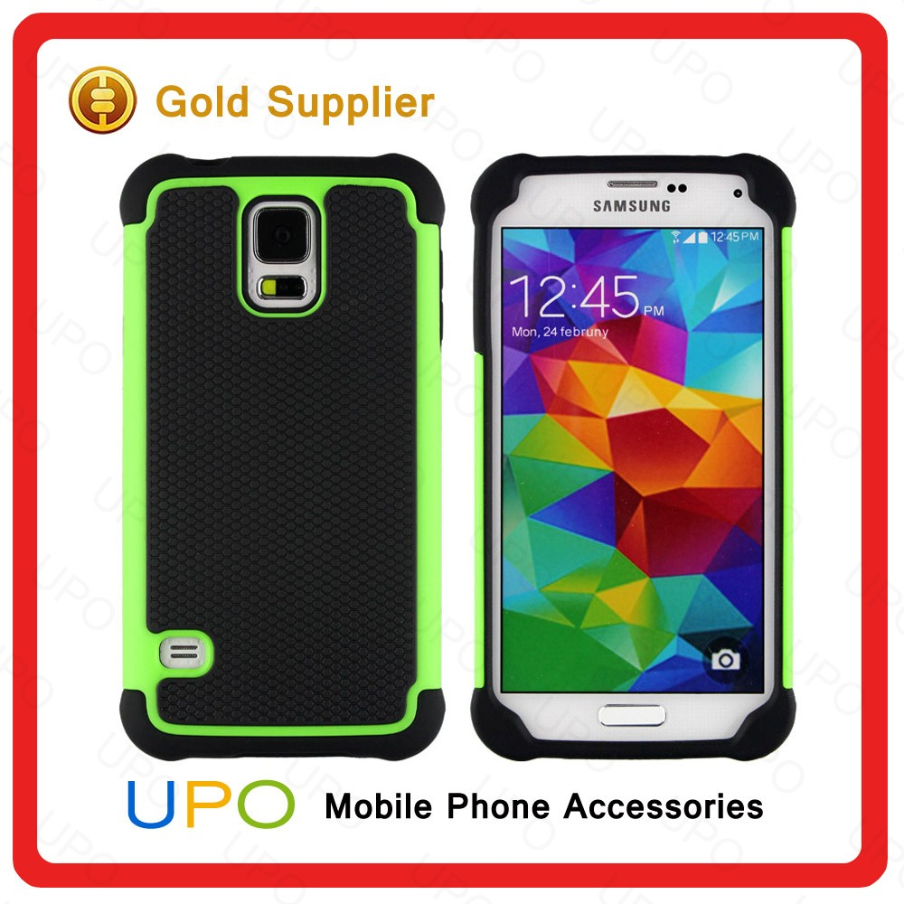 [UPO] Combo case for Samsung S5 mobile accessories / rugged phone case for Samsung S5 cover 100% fit