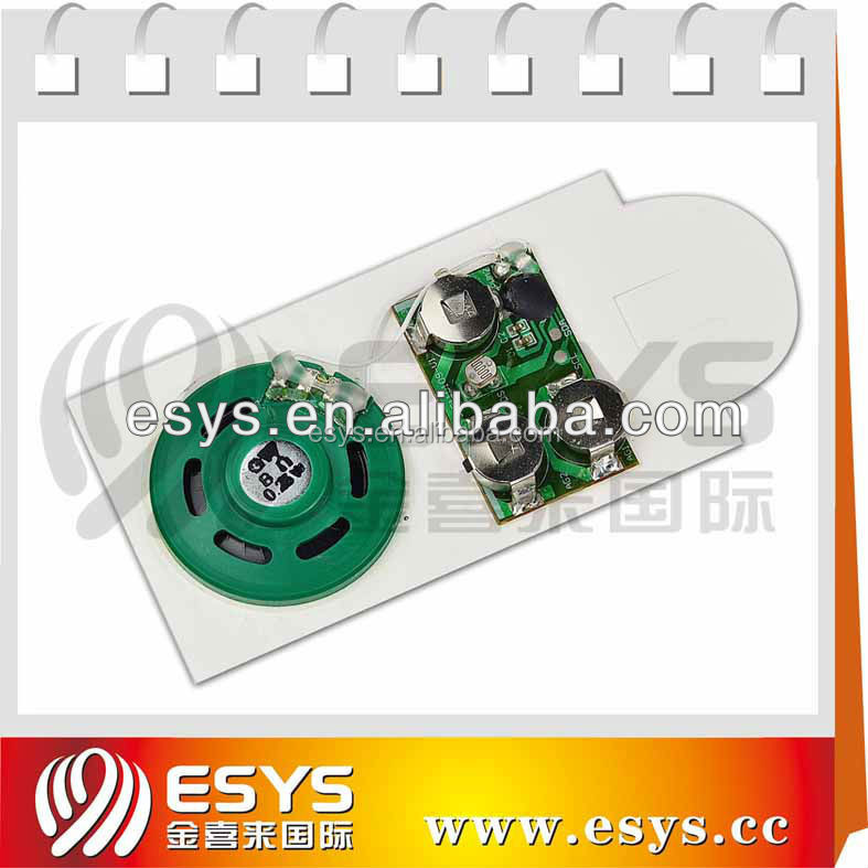 Audio recording Chip for greeting cards postcard with sticker