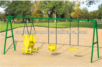 Plastic Luxury Safety Garden Swing And Slide Set