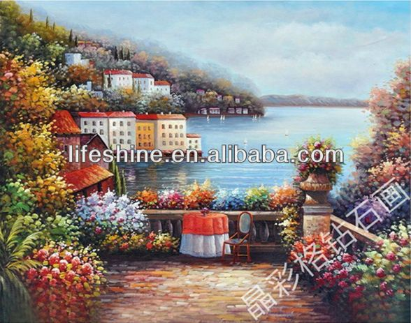 Resin picture with a beautiful scenery design for walls hanging