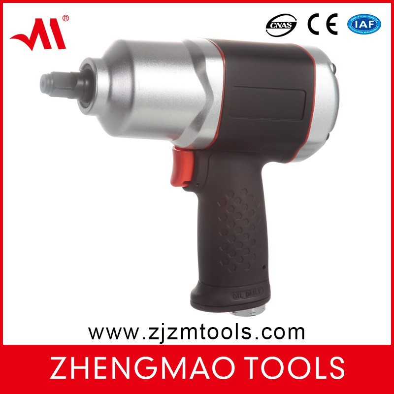 Half inch heavy duty twin hammer composite impact wrench air tool for cars