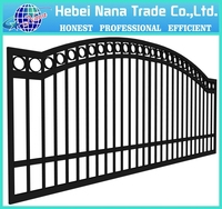 Customized aluminum garden fence and black aluminum fence panel & aluminium fence slats