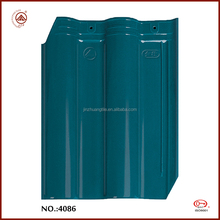 Worldwide Popular Blue Bent Glazed Clay Corrugated Roofing Tiles