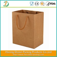 food grade kraft shopping paper bag design with logo print factory supply directly