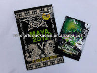 Spice blend herbal incense Maya 2012 zipper packaging bags with tear notch s