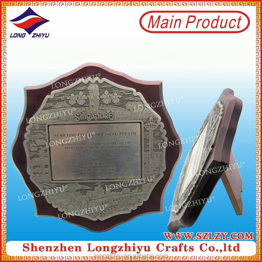 Achievement Awards Wooden Scroll Plaque Wooden Shield Plaque Wholesales