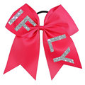 "Performance bows"" IF&LY"" gold glitter cheerleading cheer bow for girls hair"