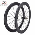 carbon fiber 700c wheelset tubular 60mm depth carbon wheels road bike