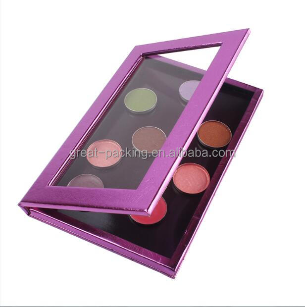 Nice design paper mac makeup palette for cosmetic packing Paper Window Cosmetic Box