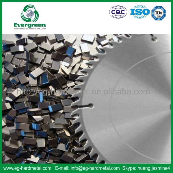 Cemented carbide TCT cutting saw blade for wood