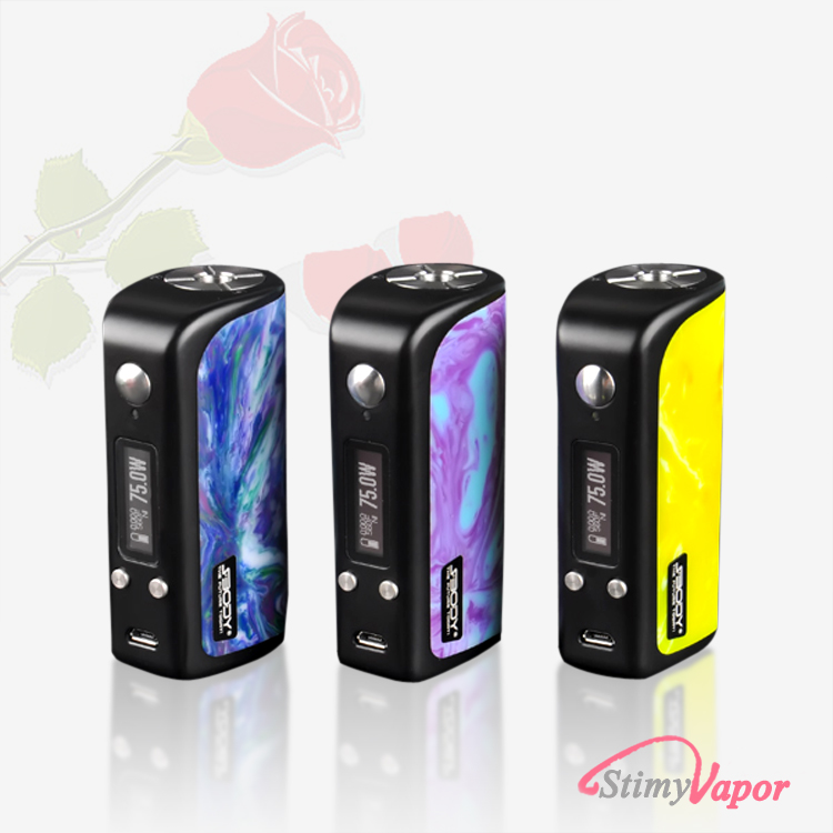 New products e cig mods 2016 mod vape Resin DNA75w box mod e cigarette kuwait