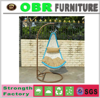 2017 new modern durable plastic patio patio garden hanging swing chairs