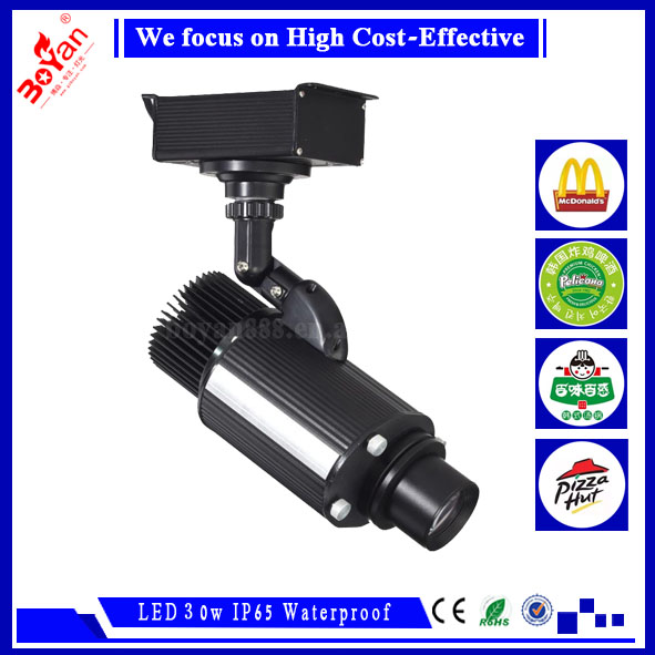 Rotating LOGO light 30W waterproof IP65 LED gobo projector