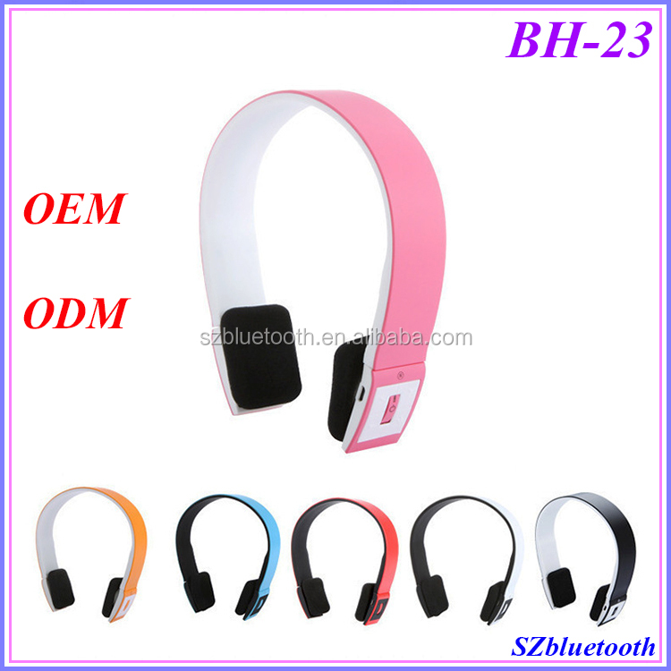 Low cost free logo print headband universal stereo wireless headphones bluetooth headset BH23