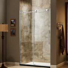 Acrylic tray SUS 304 stainless steel hardware sliding 10mm tempered glass shower enclosure