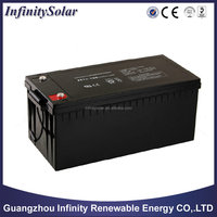 Deep Cycle Lead Acid 12v 200ah Solar Battery For Solar Power System,UPS,etc