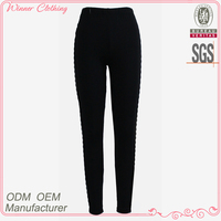 2013 Factory Manufacturer New Fashion Garter Black Leggings