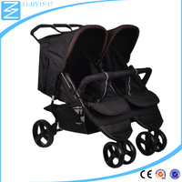 Factory directly selling safety newborn twins walker portable two passenger baby stroller