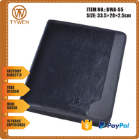 Leather And Pvc File Folder,Hardcover Leather Conference Folders / Pu Leather File Folder / Leather A4 Portfolio