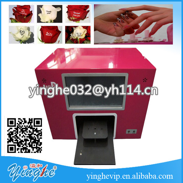 Touch Screen Nail Painting Machine portable flower printer machine
