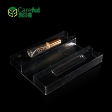 Customized transparent plastic pvc packing box with insert tray for perfume or essential oil