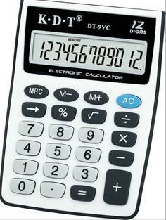 12 digit multifunction fraction pocket calculator DT-9VC