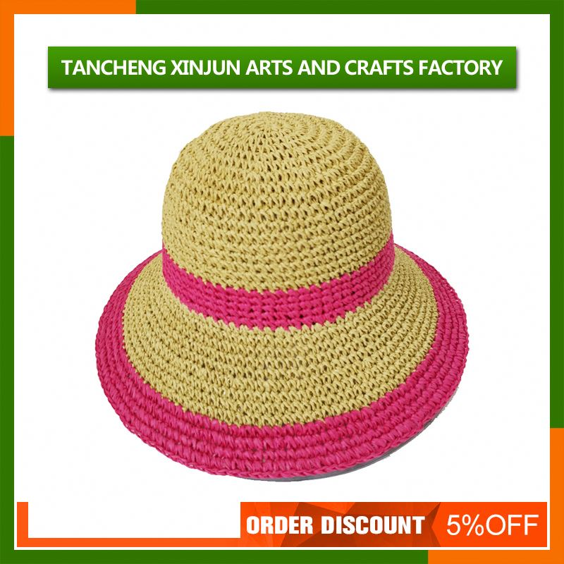 Womens Beach Casual Balloon Flower Straw Hat