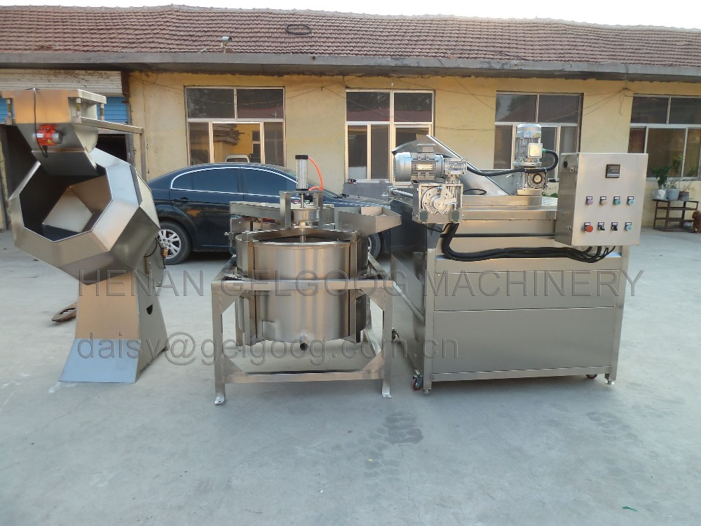 Chin chin Groundnut Potato chips frying machine Gas fryer of 200kgh