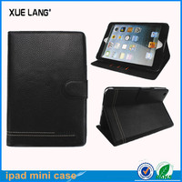 leather case for ipad mini2 made of Lichee Pattern PU leather with interior casing design