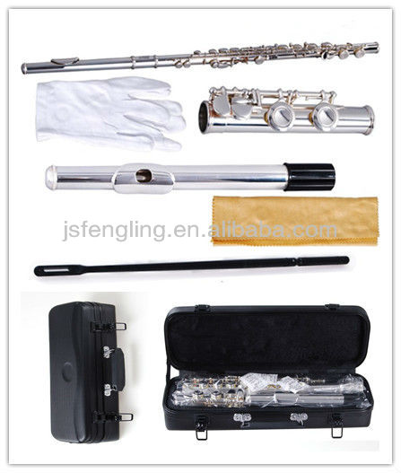 hot-selling 16 closed-hole Silver Plated flute